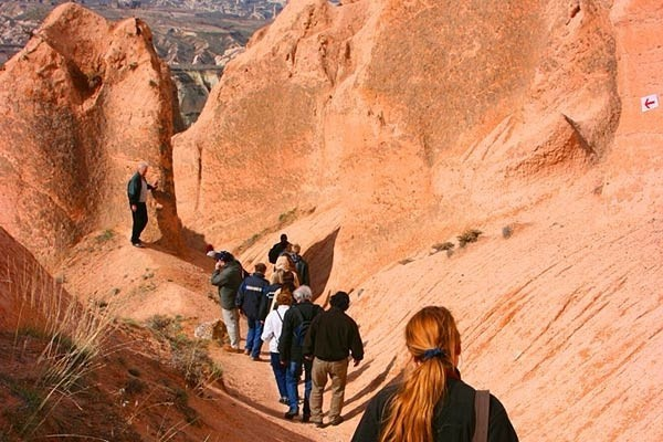 Walking trough Cappadocia